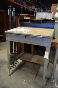 Industrial Metal Lyon Standing Desk Workbench With One Drawer
