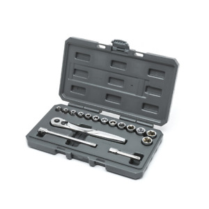Craftsman 16 Piece 3 8 Drive Metric 75 Tooth Ratchet Socket Set W Case