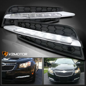 2011 2014 Chevy Cruze Smd Led Fog Lights Lamps Cover 6000k Pair