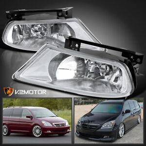 For 2005 2007 Honda Odyssey Clear Bumper Driving Fog Lights Switch Bulbs Pair