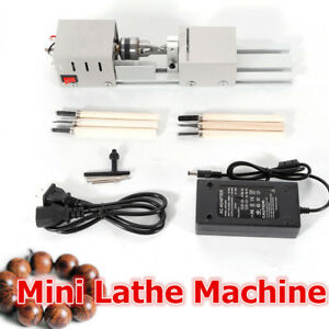 Mini Lathe Beads Machine Wood Working Diy Lathe Polishing Drill Rotary 12 24v Dc