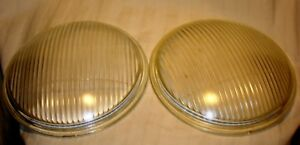 Oem Antique Vintage Ford Model A Glass Headlight Lenses Lot Of 2