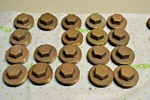 Lee 1 1 2 Threaded Bronze Clean out Plugs Lot Of 19 New Old Stock Hex Head
