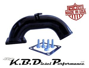 Black 3 High Flow Intake Horn 1998 5 02 Dodge 5 9l Cummins 24v Turbo Diesel