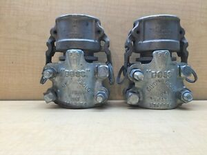 Lot Of 2 Dixon Boss 2 Hose Fitting Compression Clamp With Dixon Boss C200 2