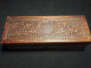 Small Decorative Collectible Wood Latching Trinket Box