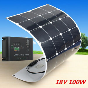 100w Sunpower Solar Panel 100watt 18v Flexible Power Generator Solar Control