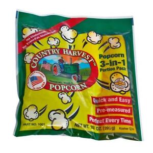 Country Harvest Popcorn Portion Packs For 8 ounce Machine case Of 24