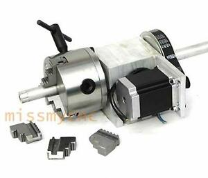 Cnc Router Rotational Rotary Axis A axle 4th axis With 3 jaw 100mm Chuck