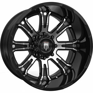 22x14 Black Machined The Bomb 8x180 76 Rims Country Hunter Mt 40 Tires
