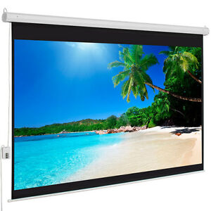 Hot Sale 100 4 3 Material Electric Motorized Projector Screen remote Home
