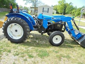 2011 New Holland Tt50a Tractor With Loader Grader Blade price Reduced