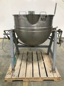 80 Gallon Stainless Steel Tilt Steam Kettle