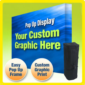 12 5 Ft Custom Trade Show Display Booth Backdrop Straight Pop Up
