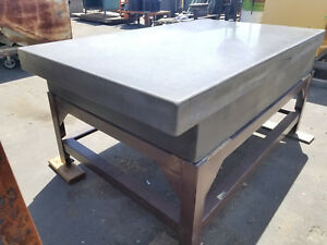 76 X 46 X 12 1 4 Thick Black Granite Surface Plate 2 Ledge W Table Stand