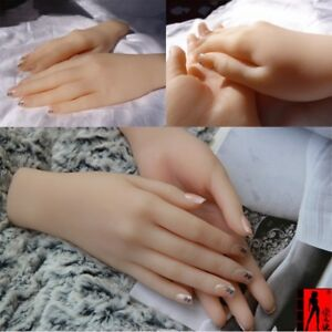 1 Pair Realistic Silicone Hand Female Girl Displays Model Mannequin 2pcs Hands