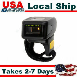 Ring Finger Laser Barcode Bar Code Scanner Data Reader Wire For Android Ios Win7