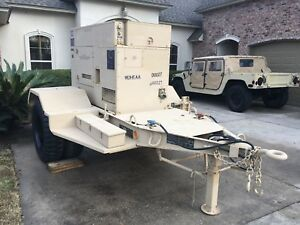 1999 Fermont Mep 804a 15 Kw Military Generator On Trailer