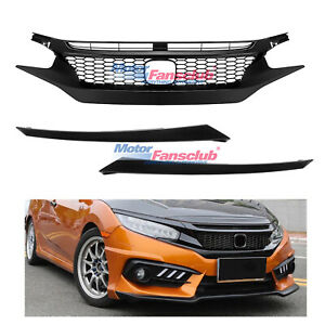 Jdm Type R Front Hood Honeycomb Mesh Grill Griller For Honda Civic 2016 2017