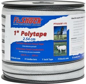 Fi shock 656 ft Electric Fence Poly Tape Fence Wire Highly Visible To Animals