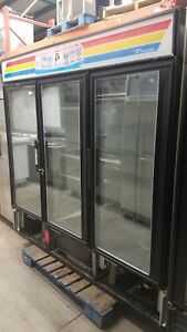 True 3 Door Freezer Gdm 72f Glass 90 Day Warranty