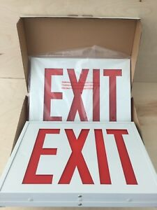 New Led Emergency Exit Sign Nyc New York Rated Steel Battery Backup Ul Listed