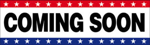 Coming Soon Vinyl Banner Grand Opening Store Sign 3x10 Ft Usa Wb