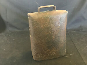 Old Vtg Collectible Primitive Folded Riveted Rusty Iron Cow Sheep Goat Bell