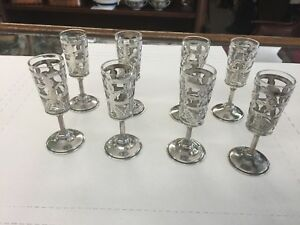 8 Sterling Silver Cordials 925