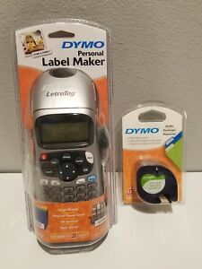 New Dymo Letratag Lt 100h Large Display Personal Label Maker With 2 pack Refills