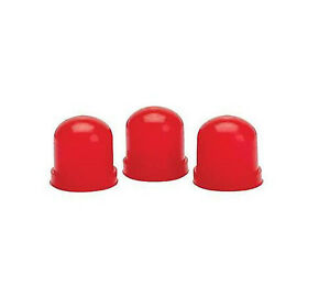 Auto Meter 3214 Replacement Light Bulb Covers Set Of 3 Red Color