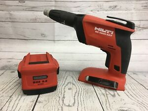 Used Hilti Sd 4500 a22 Cordless Drywall Screwdriver With B22 5 2 21 6v Battery