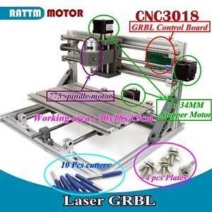 Cnc Mini 3018 Desktop Engraving Machine Diy Grbl Pcb Milling Woodworking Router