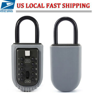 Pack Of 2 Lockbox 10 Digit Combination Hide Key Lock Box For Realtor Real Estate