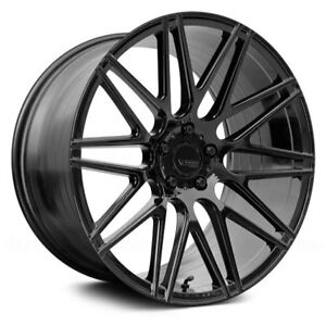 Porsche Cayenne 03 18 Verde Vff 01 Wheels 20x9 45 5x130 Black Rims Set Of 4