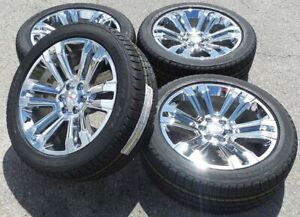 22 2017 Gmc Yukon Denali Sierra Chevy Silverado Tahoe Chrome Wheels Rims Tires
