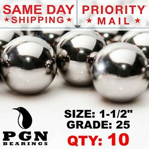 10 Qty 1 1 2 Inch G25 Precision Chrome Steel Bearing Balls Chromium Aisi 52100