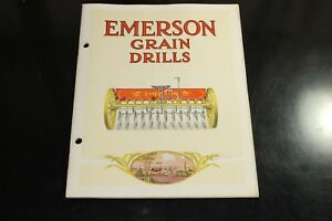 Vintage Emerson Grain Drills Farm Tractor Wagon Catalog Book Early 1900 s