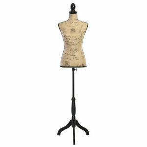 Female Mannequin Torso Dress Form Display W Black Tripod Stand