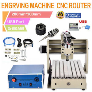 3 Axis Cnc Router Usb Engraver Engraving Drilling Milling 3d Woodworking 3020