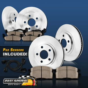 Front Rear Brake Rotors Ceramic Pads For 2004 2005 Mercedes Benz E320 4matic