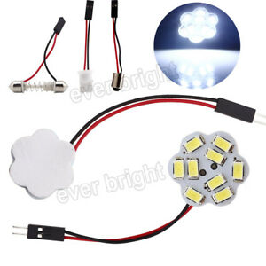 50pcs Festoon T10 Ba9s 8000k White 9smd 5730 Led Panel Interior Dome Map Light
