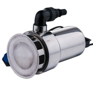 1 5hp Submersible 4300gph Water Pump Pool Flood Drain Stainless Steel Silver New