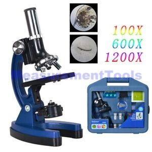 1200x Biological Educational Student Microscope For Kids Children Learn Science