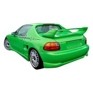 For Honda Civic Del Sol 93 97 Rear Bumper Lip Under Air Dam Spoiler Type M Style