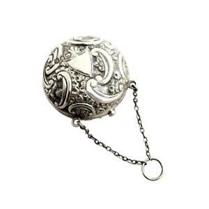 Antique Victorian Sterling Silver Sovereign Purse 1897