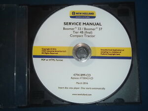 New Holland Boomer 433 37 Tier 4b Compact Tractor Service Repair Workshop Manual