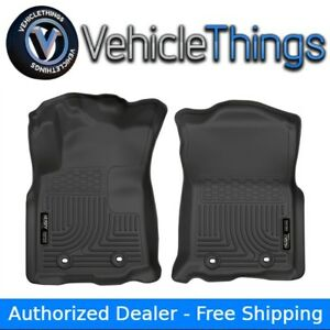 Husky Liners Weatherbeater Floor Mats Front Row Black For Toyota Tacoma