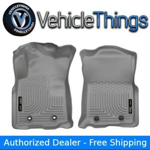 Husky Liners 13962 Weatherbeater Floor Mats Front Row Grey For Toyota Tacoma