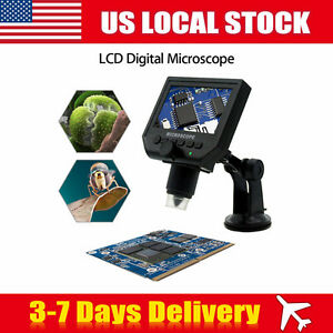 600x Hd 3 6mp Portable Digital Microscope Camera With 4 3 Inch Hd Oled Display